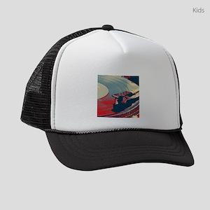 vintage retro record player Kids Trucker hat
