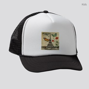butterfly paris eiffel tower Kids Trucker hat