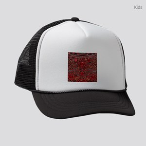 bohemian gothic red rhinestone Kids Trucker hat