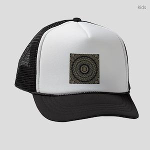 Gold Filigree Mandala Kids Trucker hat