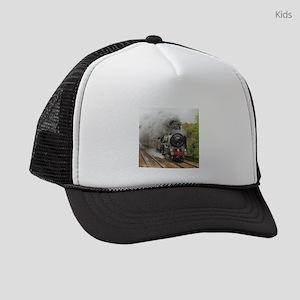 locomotive train engine 2 Kids Trucker hat
