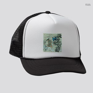 french country botanical paris Kids Trucker hat