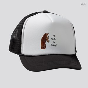 Id Rather Be Riding! Horse Kids Trucker hat