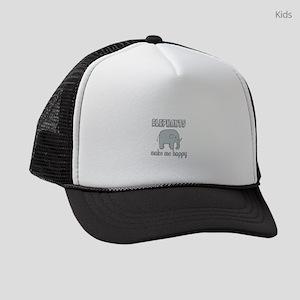 Elephants Make Me Happy Kids Trucker hat