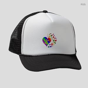 I Love 70s Music Kids Trucker hat