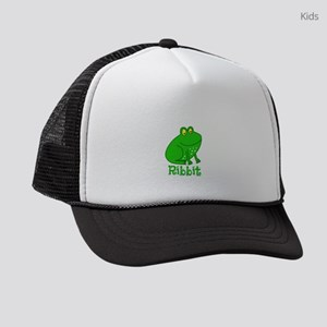 GREEN FROG RIBBIT Kids Trucker hat