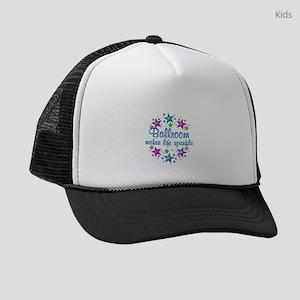 Ballroom Makes Life Sparkle Kids Trucker hat