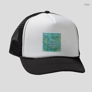 Jane Austen quotes Kids Trucker hat