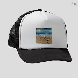 Footprints in the Sand Kids Trucker hat