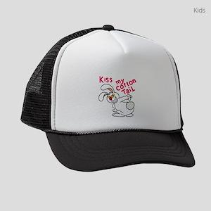 Kiss my cottontail! Kids Trucker hat