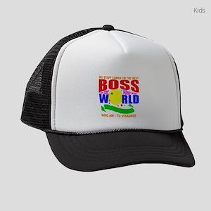 Funny boss Kids Trucker hat