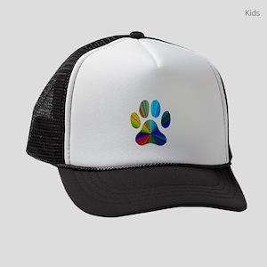 10 x 10 rainbow paw Kids Trucker hat