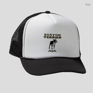Boston Terrier Mom Kids Trucker hat