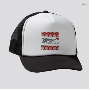 Dear Santa..adult humor Kids Trucker hat