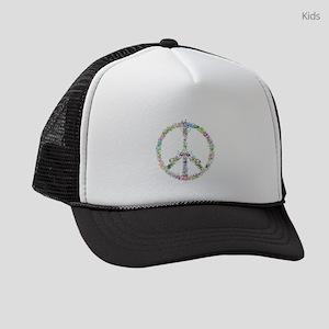Peace of Flowers Kids Trucker hat