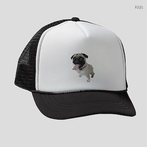 Pug Close Up Photo Kids Trucker hat