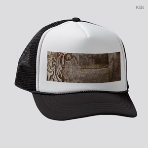 barn wood lace western country Kids Trucker hat