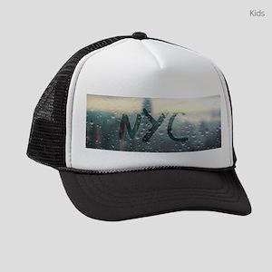 Rainy Day in NYC Kids Trucker hat