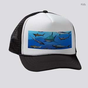 Shark Gathering Kids Trucker hat