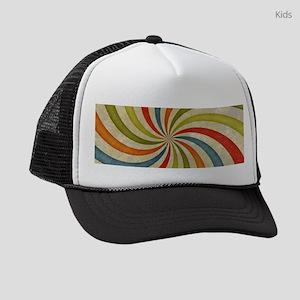 Psychedelic Retro Swirl Kids Trucker hat