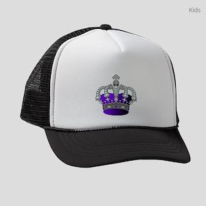 Silver & Purple Royal Crown Kids Trucker hat