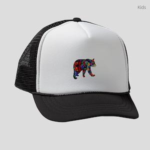 BEAR PAINTED Kids Trucker hat