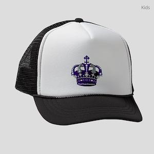 Purple Royal Crown Kids Trucker hat