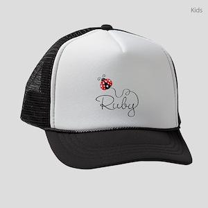 Ladybug Ruby Kids Trucker hat
