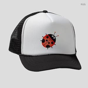 Animated Ladybug Kids Trucker hat
