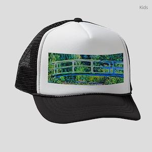 Monet - Water Lily Pond Kids Trucker hat