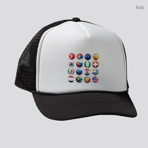 World Cup Soccer Balls Kids Trucker hat