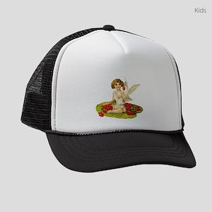 Vintage Cupid On Lily Pad Kids Trucker hat