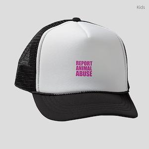 Report Animal Abuse Kids Trucker hat