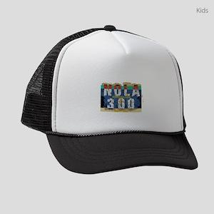 NOLA 300 Year Tricentennial Artwo Kids Trucker hat