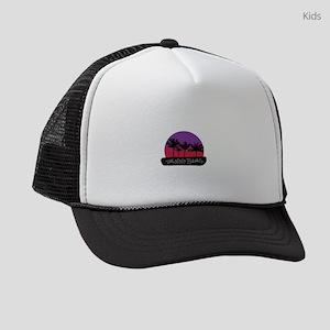 Talofofo Gaum sunset and palm tre Kids Trucker hat