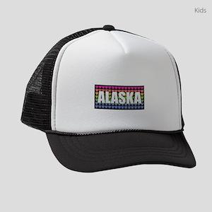 Alaska Hearts Kids Trucker hat