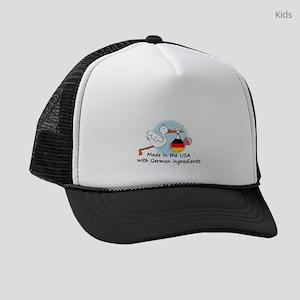 stork baby de2 Kids Trucker hat