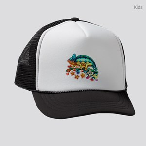 Colorful Camouflage Chameleon Kids Trucker hat