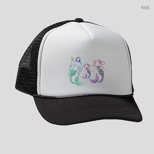 Mystical Mermaid Family Kids Trucker hat