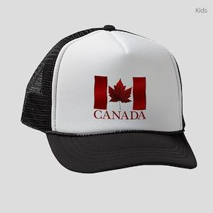 Canada Flag Souvenirs Kids Trucker hat