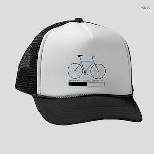 Cycling Skills Loading Kids Trucker hat
