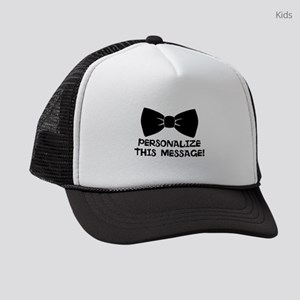PERSONALIZED Cute Bow Tie Kids Trucker hat