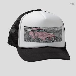 vintage pink car Kids Trucker hat