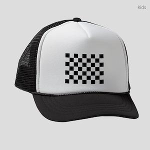 checker board Kids Trucker hat