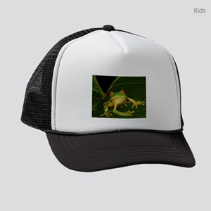 Red-eyed Leaf Frog Kids Trucker hat