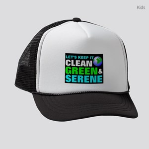 Save the earth green Kids Trucker hat
