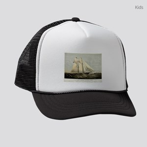 The yacht Meteor - 1869 Kids Trucker hat