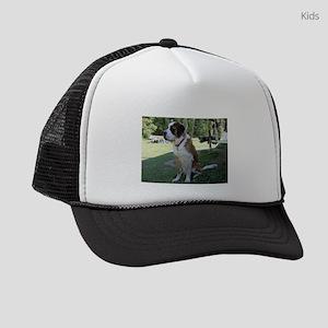 saint bernard sitting 2 Kids Trucker hat