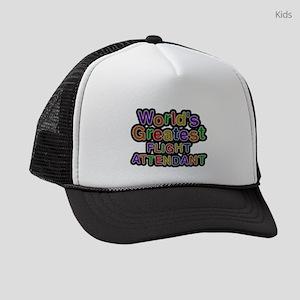 Worlds Greatest FLIGHT ATTENDANT Kids Trucker hat