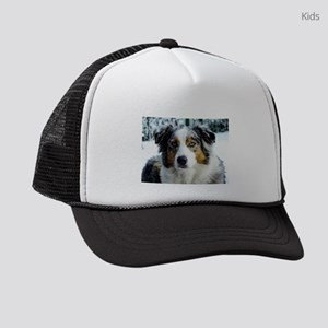 australian shepherd blue merle 3 Kids Trucker hat